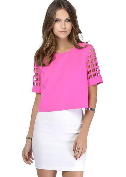 blouse cut out shirt