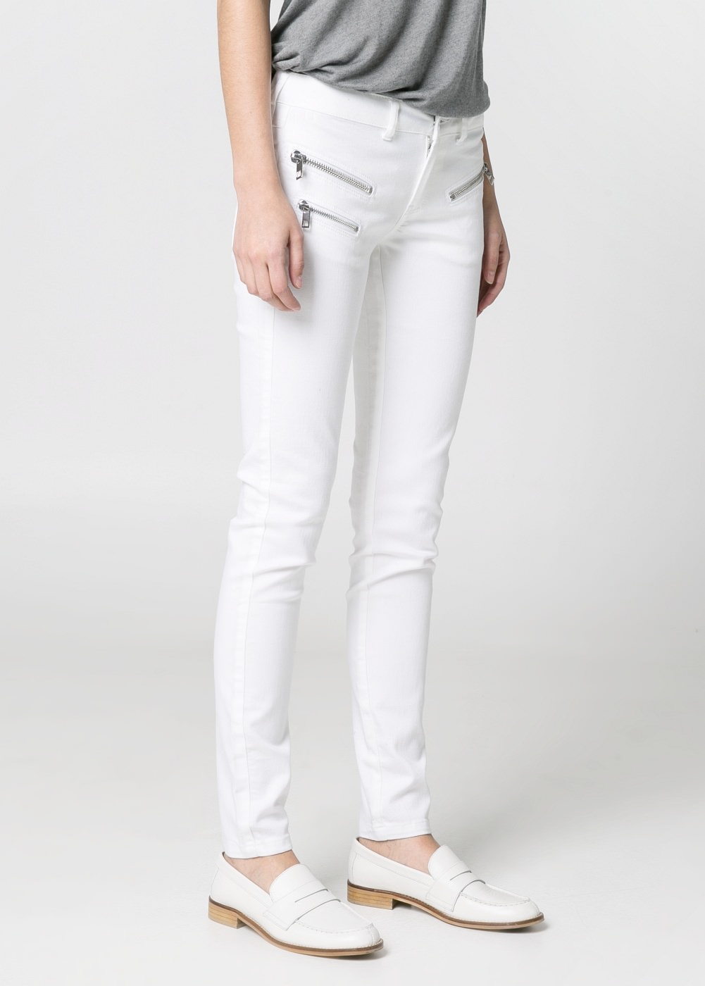 Super slim-fit Zippy jeans -  							  							Women - 							MANGO