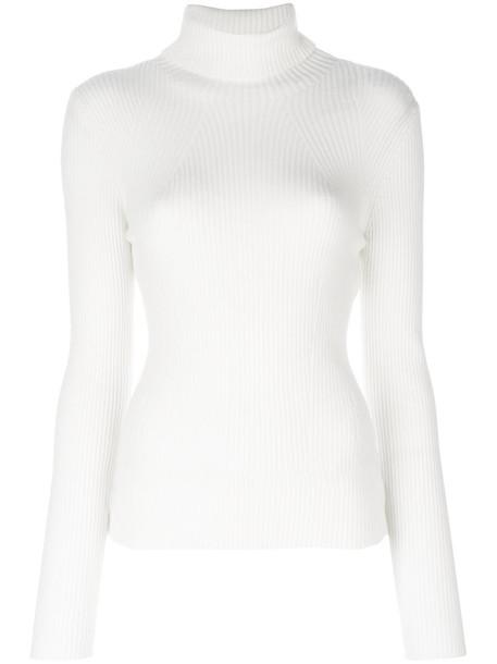 3.1 Phillip Lim - turtleneck jumper - women - Spandex/Elastane/Wool - L, White, Spandex/Elastane/Wool