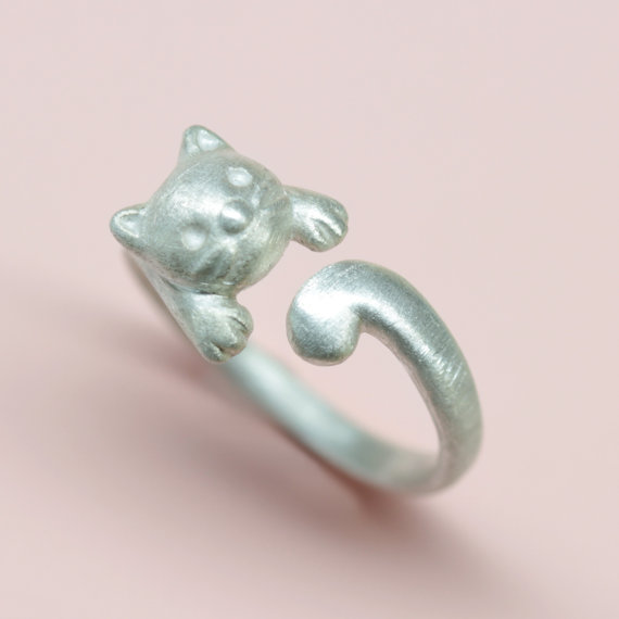 cat ring in sterling silver ring by suenvy on etsy