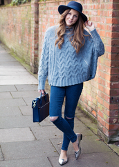 love of cloth,blogger,sweater,jeans,bag,hat,shoes