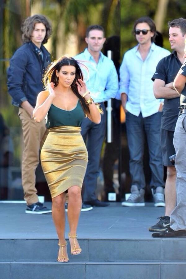 Metallic High Waisted Skirt - Shop for Metallic High Waisted Skirt ...