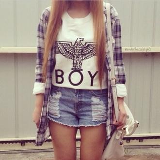shirt boy cute top white t-shirt cute top