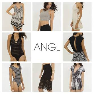 angl dress tank top summer top outfit idea bodysuit sexy