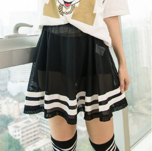 skirt two-piece skirt set asian fashion japanese fashion sheer tokyo fashion cfashion chinese fashion kfashion korean fashion harajuku harajuku dope dope shit dope skirt