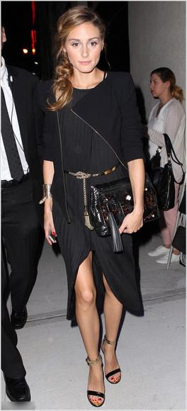 olivia palermo dress fashion week 2014 black