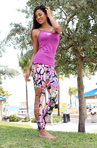 top equilibrium pink purple bikiniluxe