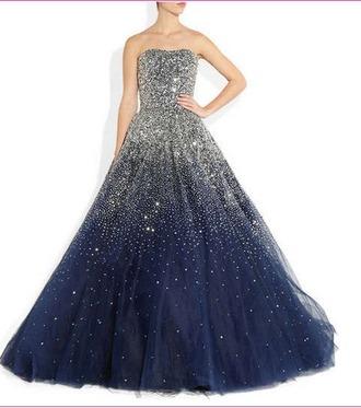 dress prom dress blue dress sparkly dress