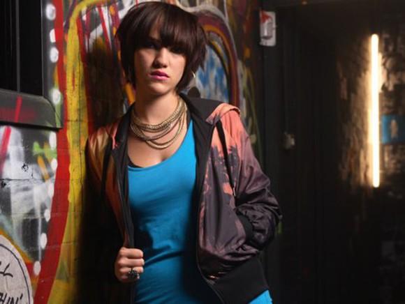 tv show jacket peach windbreaker misfits