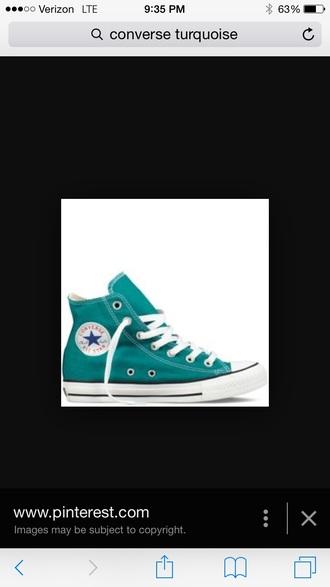 shoes converse high tops turquiose converse