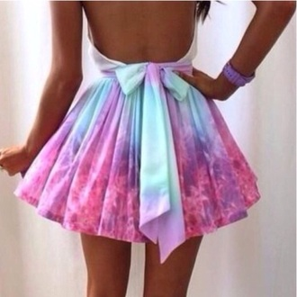 skirt pastel galaxy multicolor