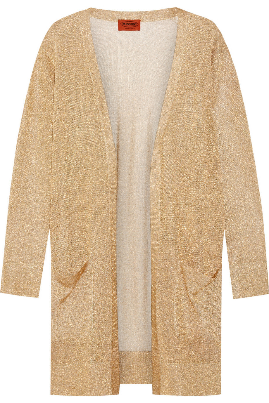 Missoni Metallic Crochet-Knit Cardigan - Wheretoget
