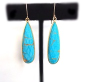 jewels,turqouise,jewelry,earrings,gold earrings,turquoise jewelry,camila estrella,www.camilaestrella.etsy.com,long earrings,blue earrings,etsy sale,spring outfits,summer