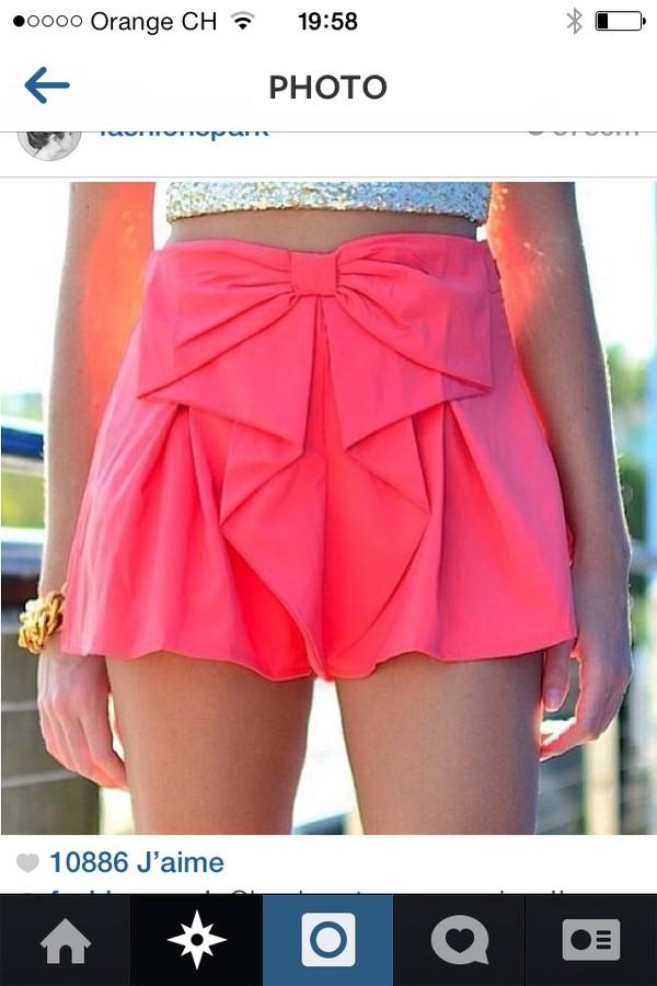 skirt fushiapink#bow#