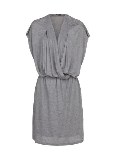 wrap neckline dress