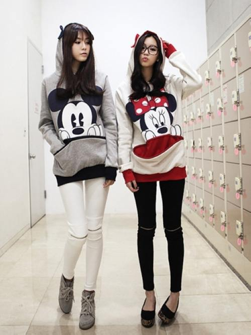Lovely Carton Pattern Easy-matching Couple Hoodies_Activewear_Wholesale clothing from China fashion online shop. Cheap Korean fashion clothes, dresses, high heels shoes and T shirts on sale.