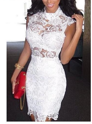 Fashion hot lace show body sexy dress