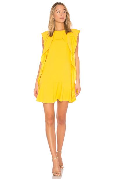 RED VALENTINO dress mini dress mini ruffle yellow