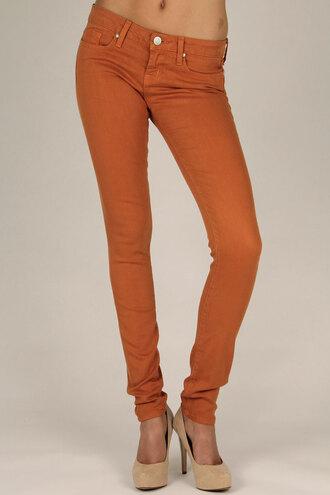 jeans burnt orange