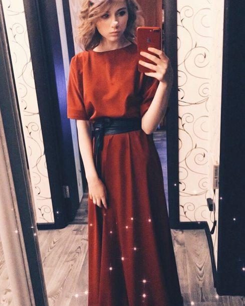 dress thedress brand thebrand red dress brown dress orange dress