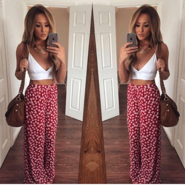 top tank top brah style summer pants
