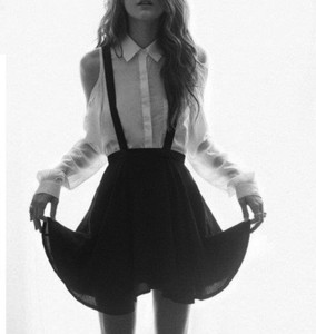 skirt braces black skirt clothes shirt