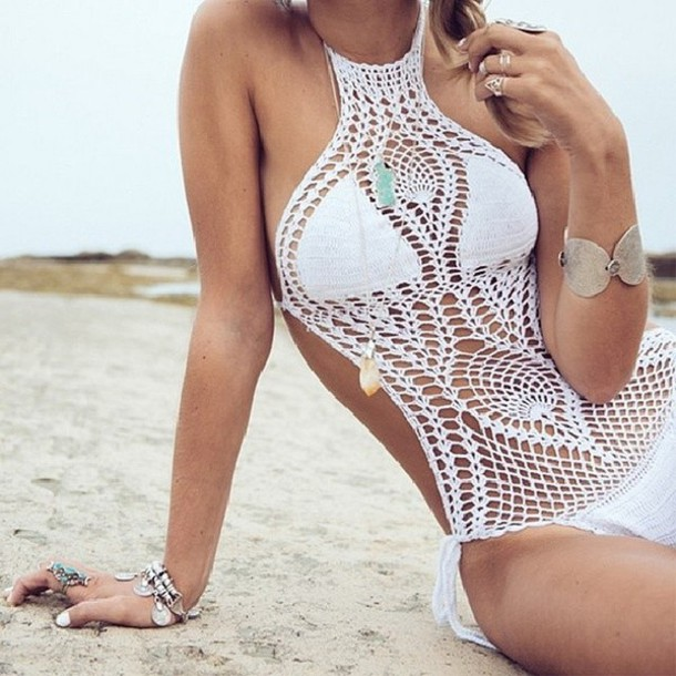 swimwear white lace swimwear
