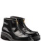 Glossy leather zip front boots