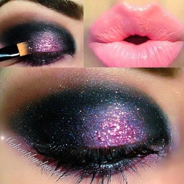 make-up galaxy print beautiful