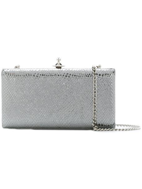 Vivienne Westwood metal women bag clutch leather grey