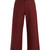 Wide-leg cotton cropped trousers