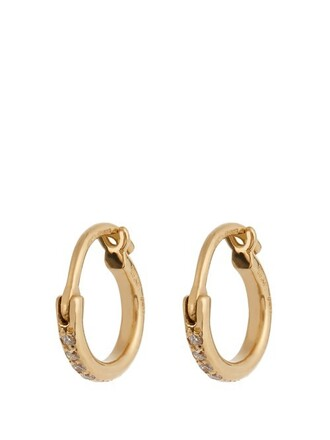 mini earrings hoop earrings gold yellow jewels