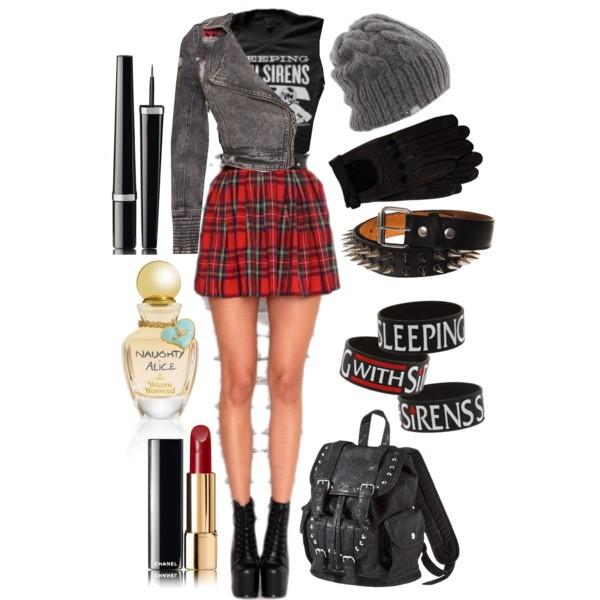 skirt punk rock punk rock skirt red plaid skirt shortskirt pattern grunge jewels bag