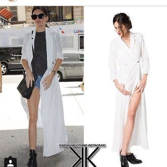 white white shirt celebrity white blouse kendall jenner celebrity style fashion
