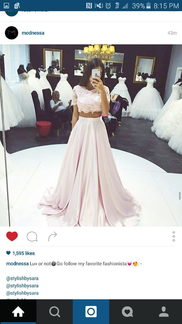 dress two piece dress set gown prom dress pastel pink pink prom dress pink  dress. 1809bb8504d7