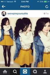 skirt,mustard color high waist skirtrt,mustard