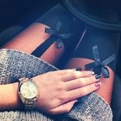 jewels,socks,bows,black,pretty,tights,leggings,underwear,cute,long sweaters,watch,clothes