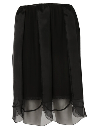 skirt layered black