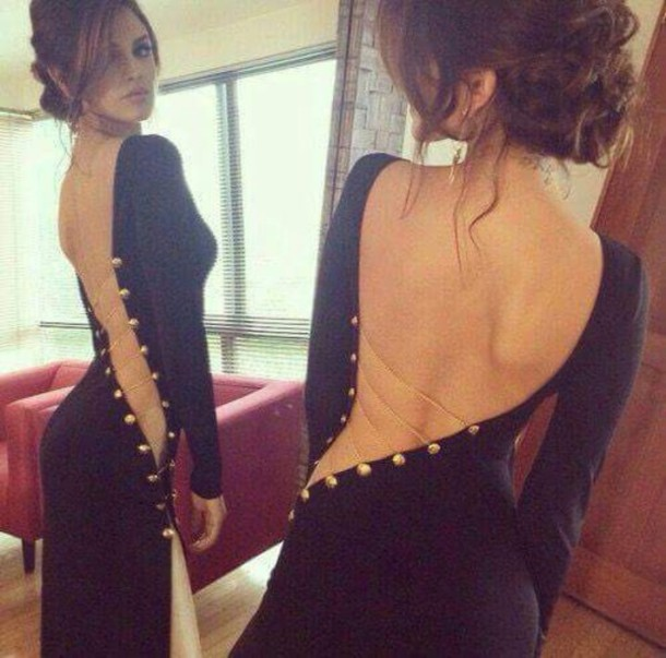 dress black sexy long backless dress lacey wedding cocktail