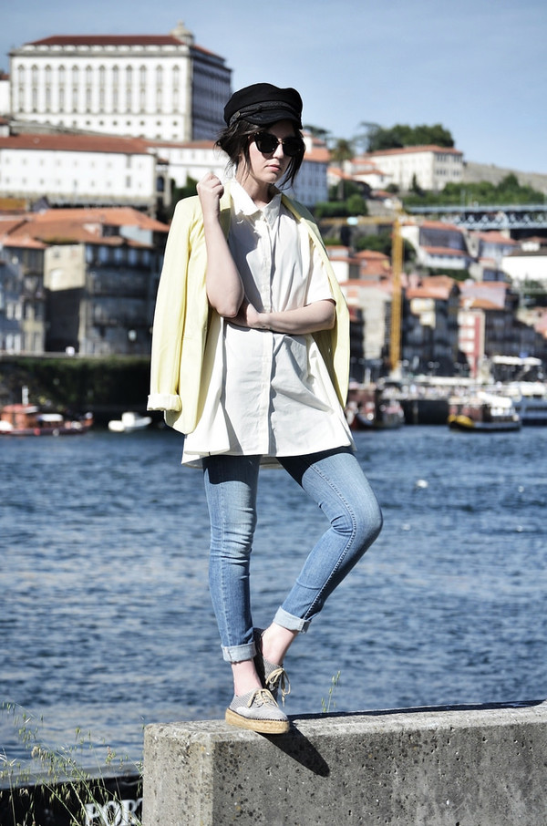 views by laura jacket shoes jeans sunglasses shirt dress