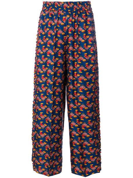 La DoubleJ cropped women silk pants