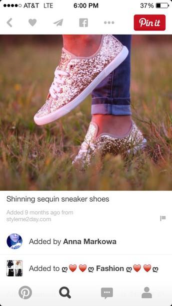 shoes gold sequins
