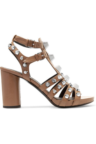 studded sandals leather sandals leather brown shoes