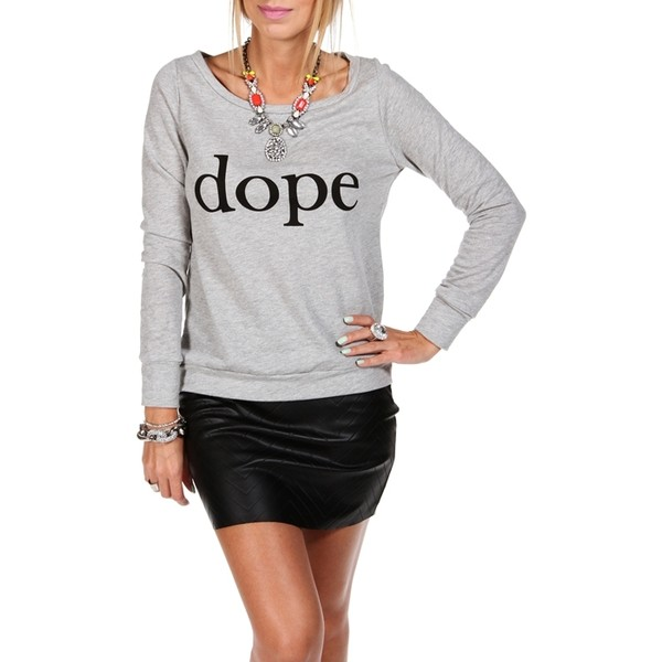 Heather Gray/Black Dope Sweater - Polyvore