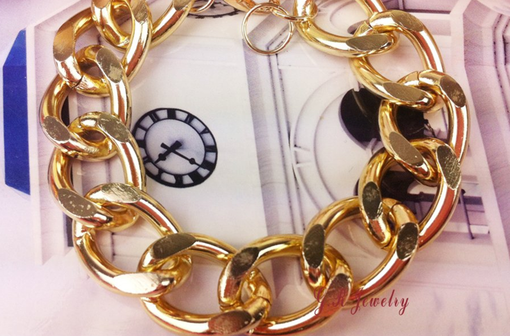 Trendy Gold Tone Chain Link Bracelet | RMC Boutique