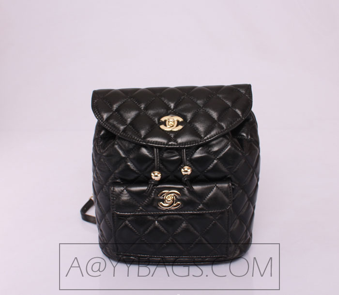 Chanel Shoulder Bag Ch66120 Black Sheepskin