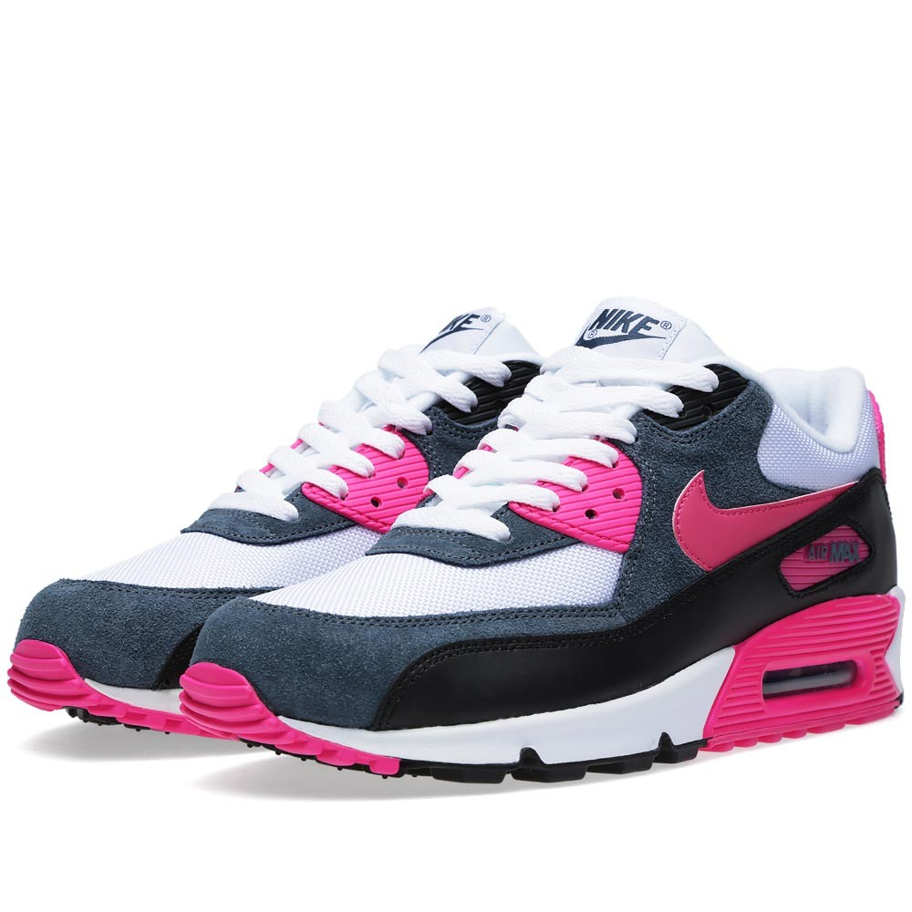 huge selection of 2fc4d 9a35f Nike Air Max 90 Essential (White, Pink Foil   Black)
