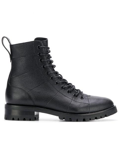 Jimmy Choo Cruz Flat Combat Boots - Farfetch