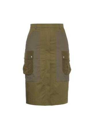 skirt pencil skirt khaki