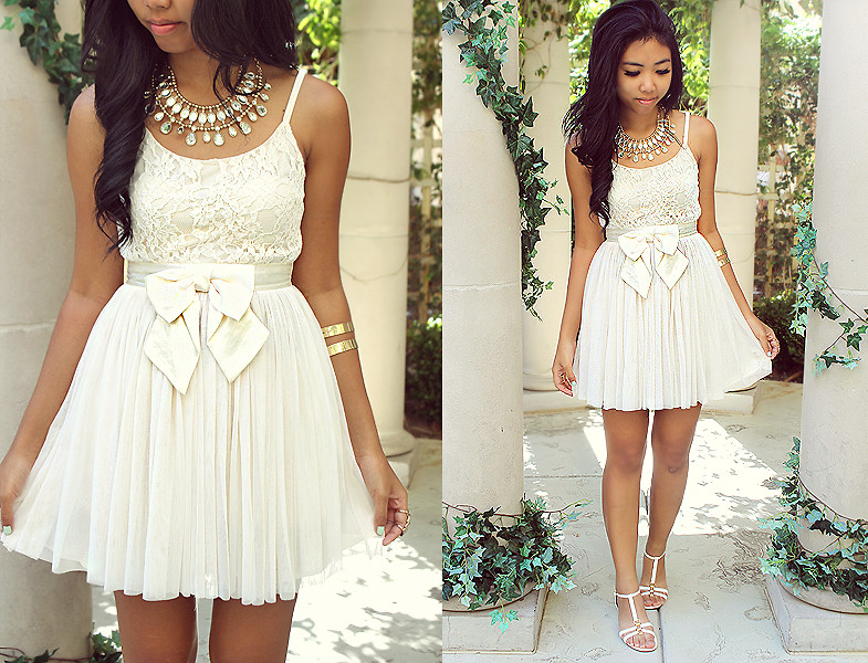 Forever 21 White Dress, Enzo Angiolini White Sandals - Venus Garden - Sharena C. | LOOKBOOK